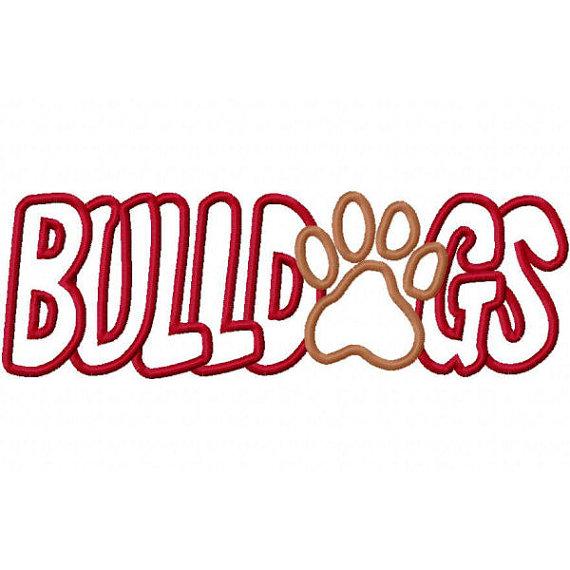 Bulldog paw print clipart