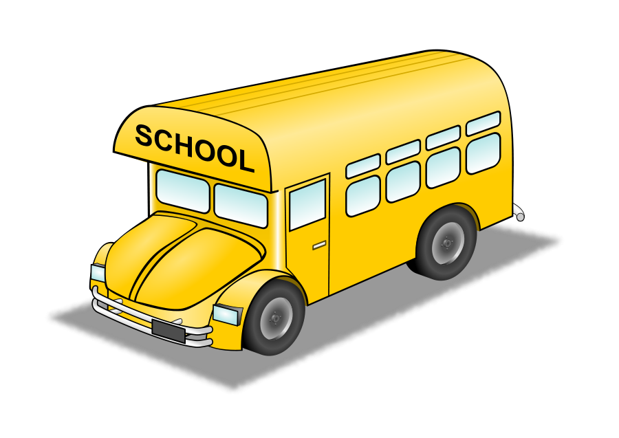 Bus clip art on school buses and back to
