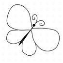 Butterfly outline 1 3