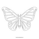 Butterfly outline free butterfly stencil monarch outline and silhouette 3