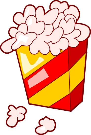 Cartoon popcorn clip art graphics clipart icon clipart