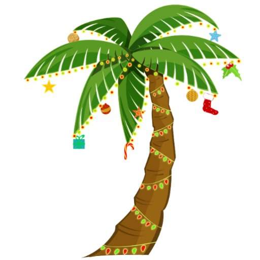 Clip art christmas palm tree clipart wikiclipart