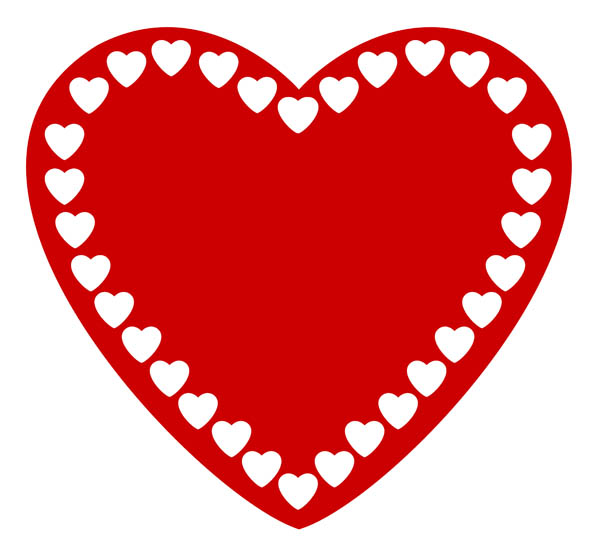 Clipart love heart free images 6