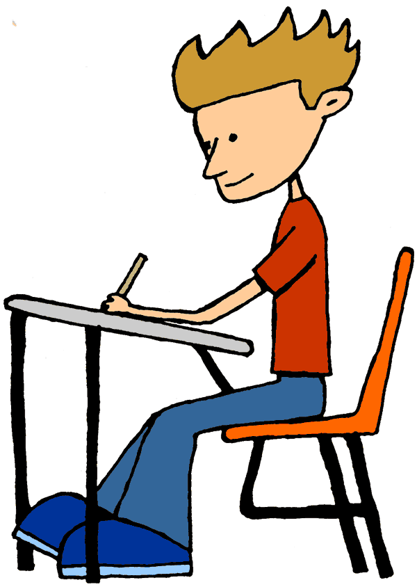 College student writing clipart 2