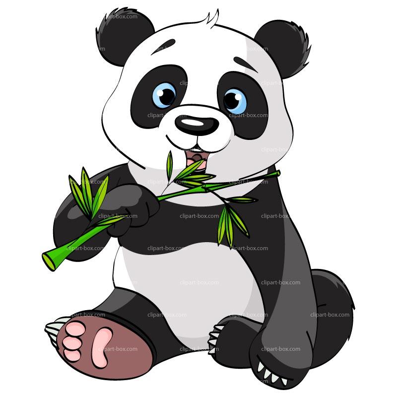 Cute panda bear clipart free images 4