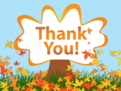 Fall thank you clipart kid 3