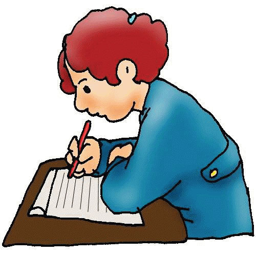 Free clip art children writing clipart images 3