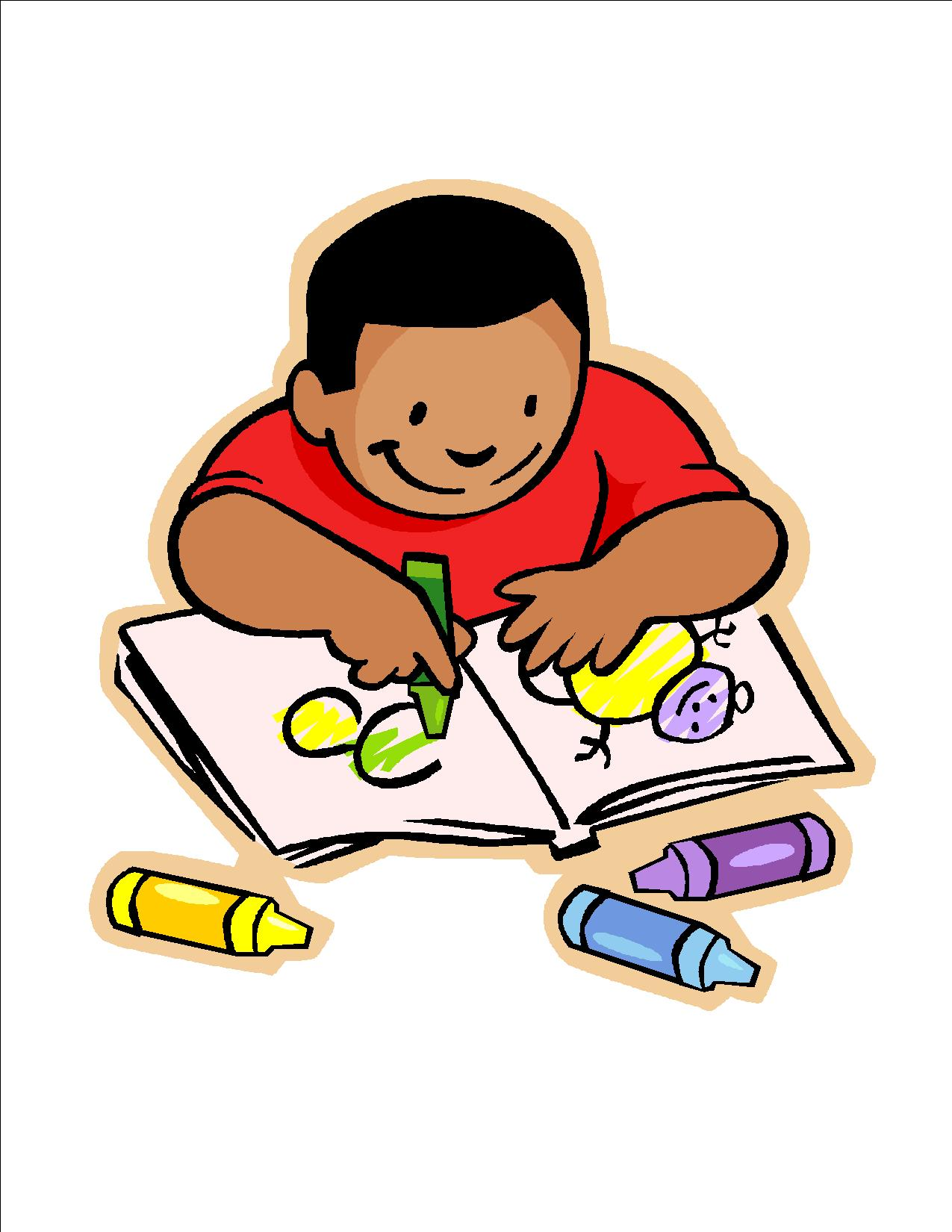 Free clip art children writing clipart images 4