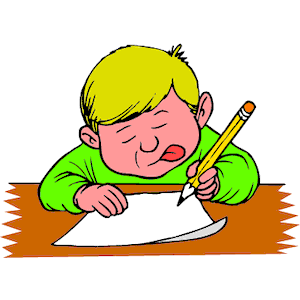 Free clip art children writing clipart images