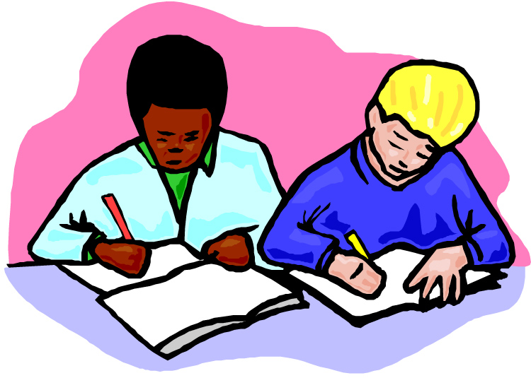 Free clip art children writing free clipart images 3