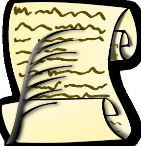Free scrolls clipart