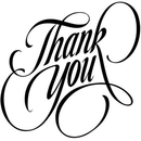 Free thank you clipart black and white