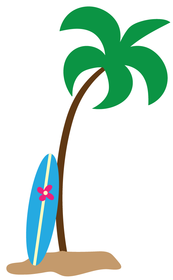Hawaiian palm tree clip art free clipart images