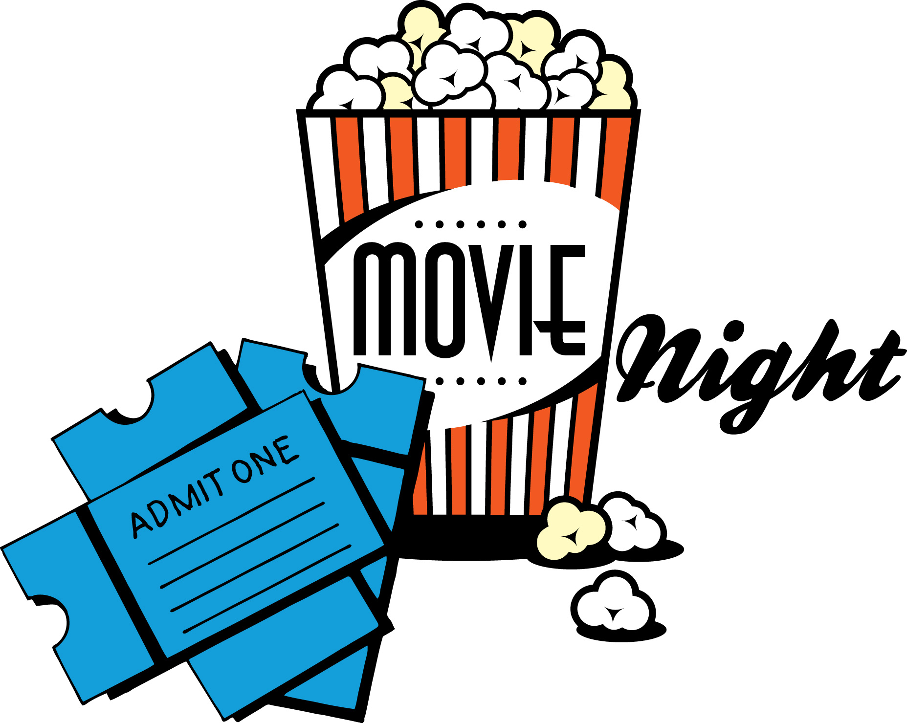 Movie night clipart free images 2