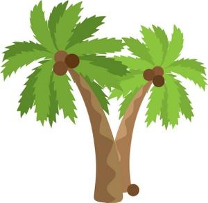 Palm tree art tropical palm trees clip 2 clipart 5
