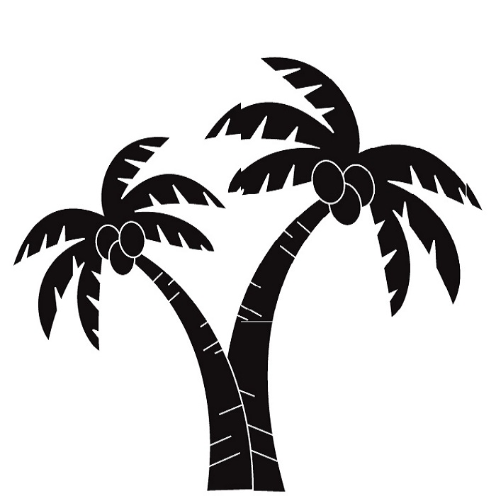 Palm tree art tropical palm trees clip 3 clip art 2