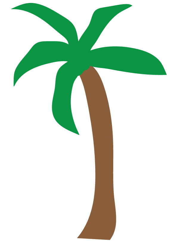 Palm tree clip art silhouette free clipart images 2