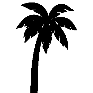 Palm tree clipart black and white clipartfest 2