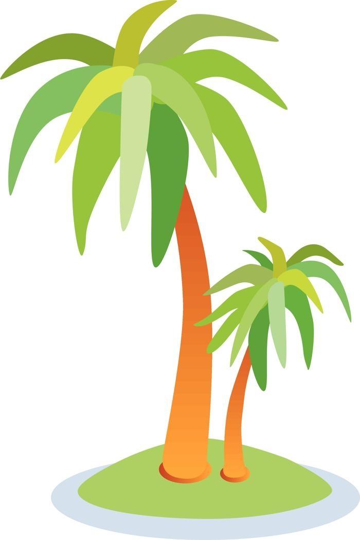 Palm tree island clipart