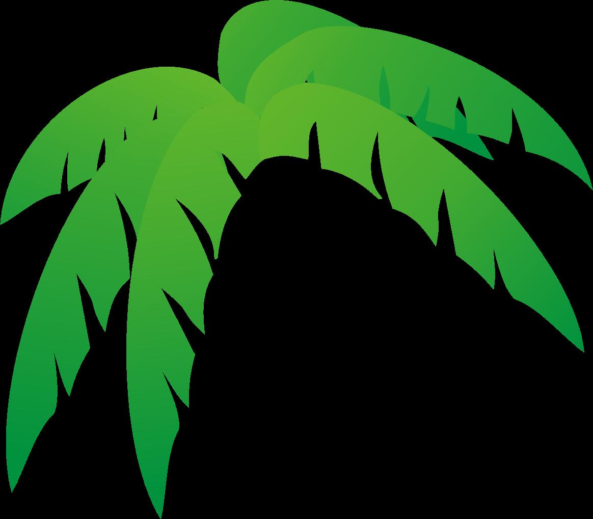 Palm tree leaves free clip art