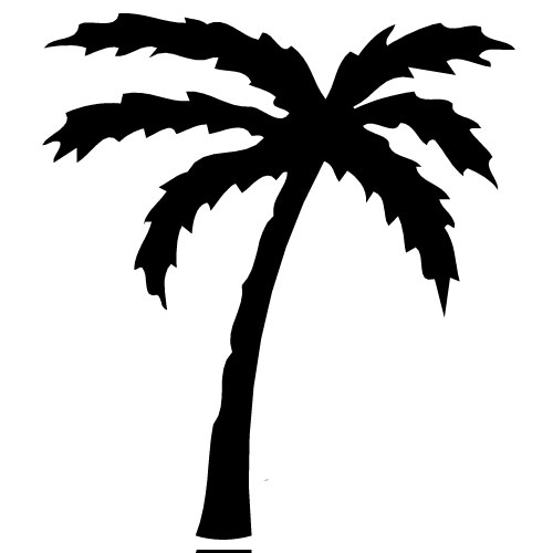 Palm tree no background free clipart images
