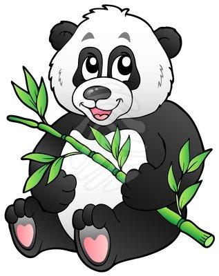 Panda bamboo clipart free images