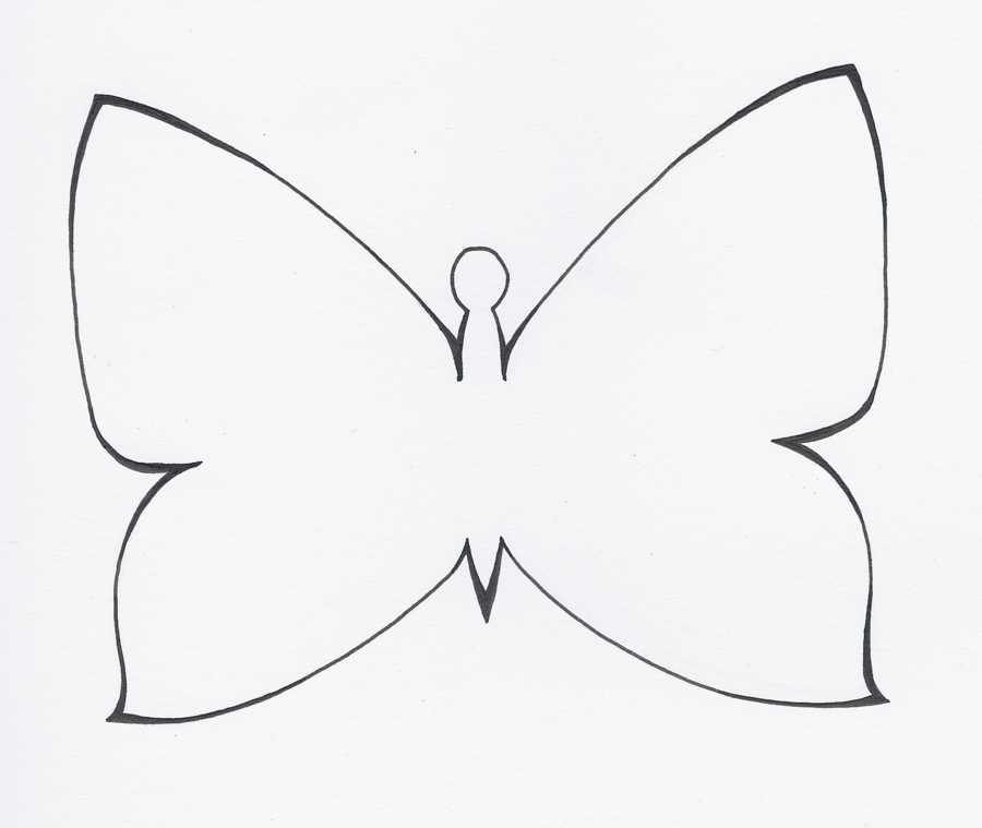 Photos of simple butterfly outline