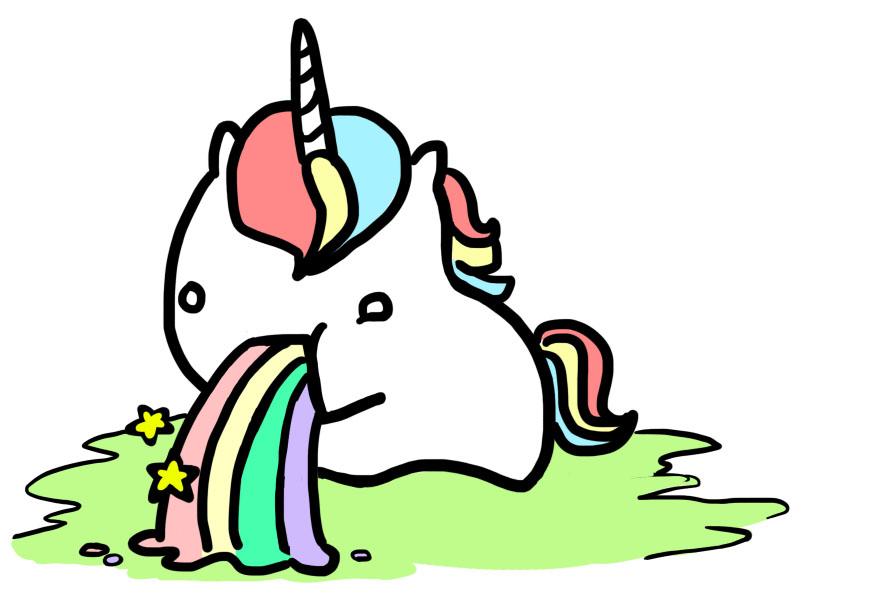 Rainbow unicorn clipart free images 4