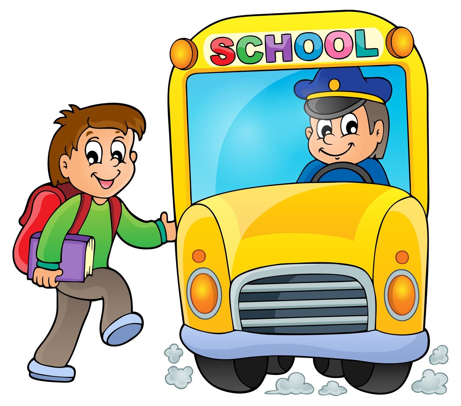 School bus cute 3 clipart