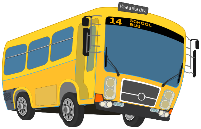 School bus free to use clip art 2