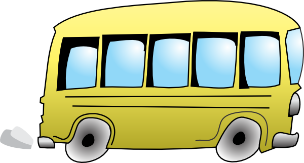 School bus free to use clipart 3