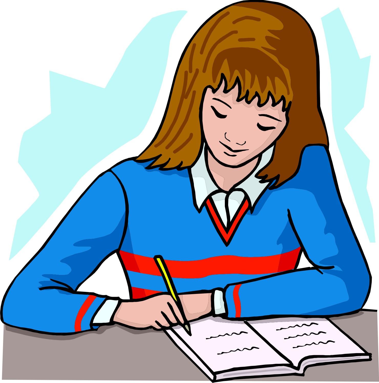 School writing clipart