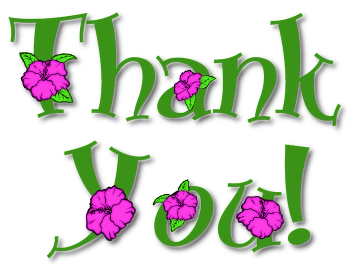 Thank you flowers clipart free images