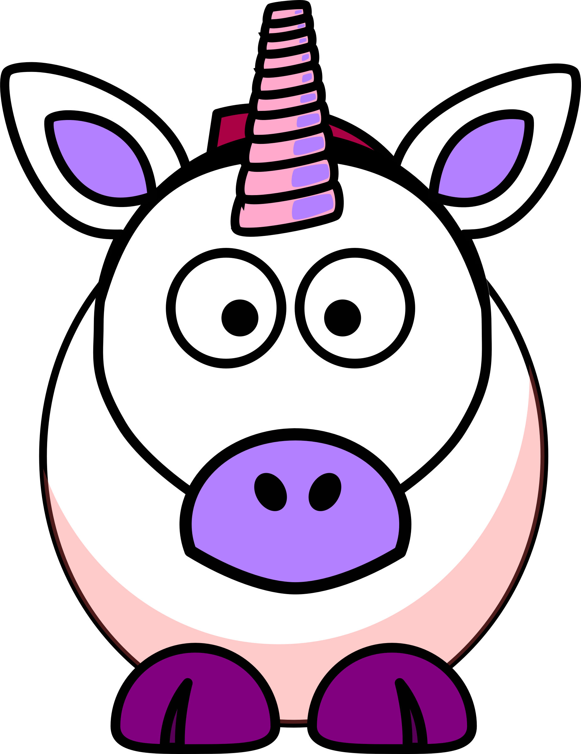 Unicorn clipart fans 4