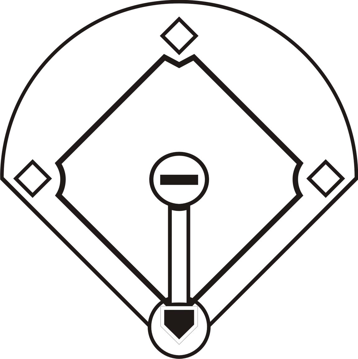 Baseball diamond clipart images