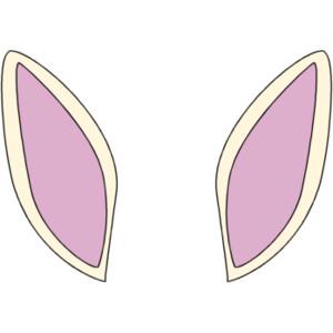 Bunny ear clipart 3