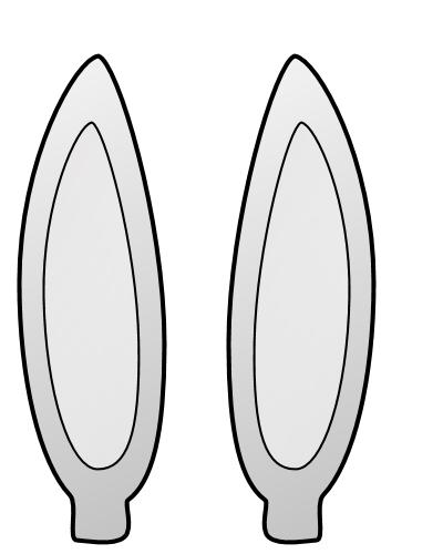 Bunny ear clipart