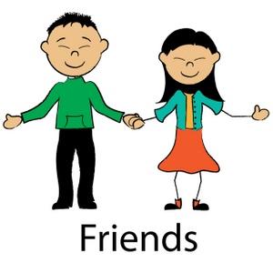 Children friends clipart free images 3