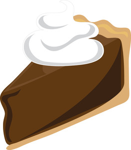 Chocolate pie clipart