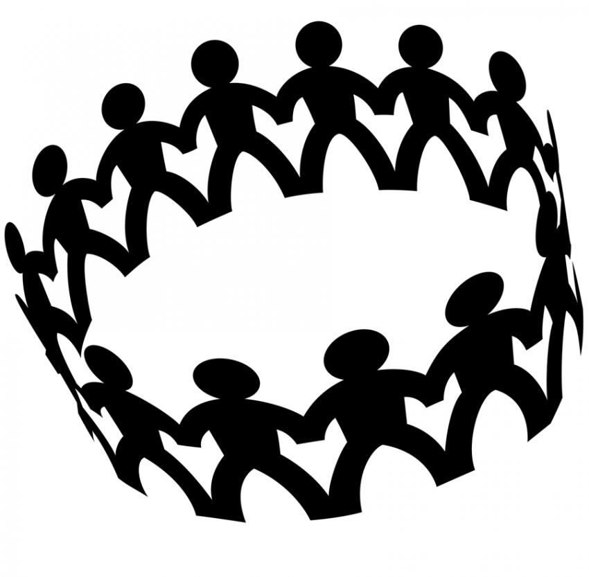 Circle of friends clipart