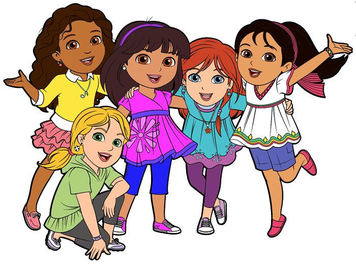 Dora and friends clipart