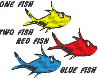 Dr seuss fish clip art 3