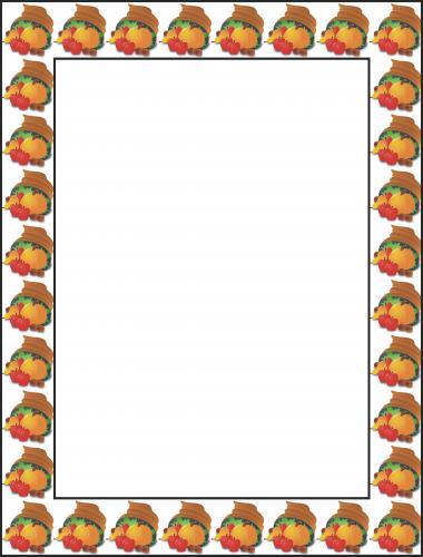 Free thanksgiving border 2