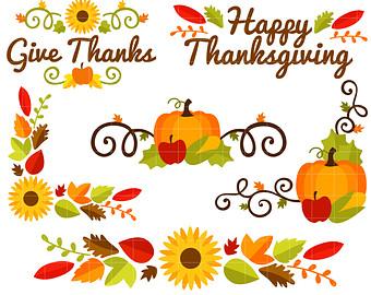 Free thanksgiving border clip art