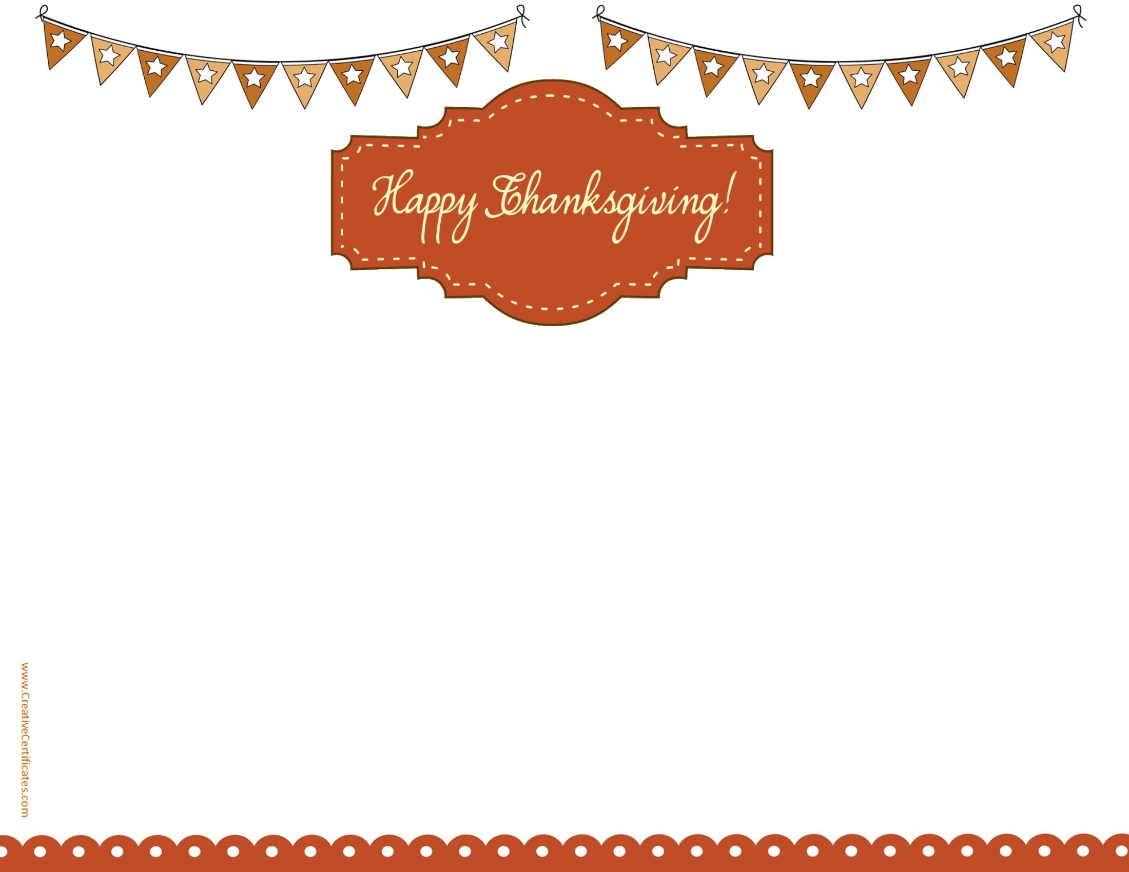 Free thanksgiving borders 5