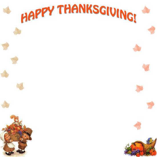 Free thanksgiving borders happy border clip art 2