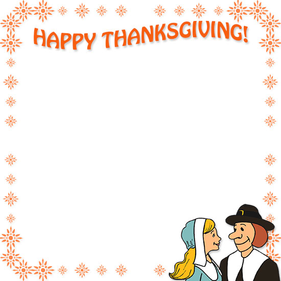 Free thanksgiving borders happy border clip art 7