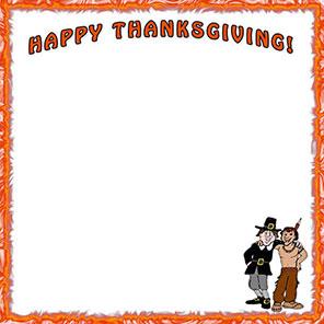 Free thanksgiving borders happy border clip art 8