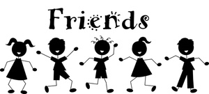 Fun with friends clipart