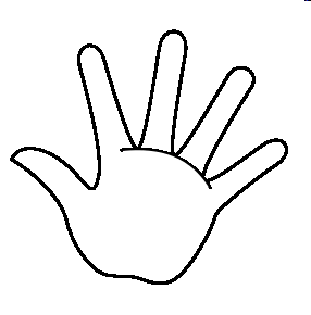 Left hand outline clipart